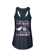 I LOVE CROCHET AND CAT FUNNY CROCHET Ladies Flowy Tank tile