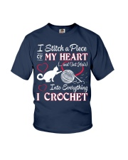 I LOVE CROCHET AND CAT FUNNY CROCHET Youth T-Shirt tile