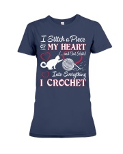 I LOVE CROCHET AND CAT FUNNY CROCHET Premium Fit Ladies Tee thumbnail
