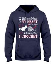 I LOVE CROCHET AND CAT FUNNY CROCHET Hooded Sweatshirt thumbnail