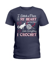 I LOVE CROCHET AND CAT FUNNY CROCHET Ladies T-Shirt thumbnail