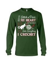 I LOVE CROCHET AND CAT FUNNY CROCHET Long Sleeve Tee thumbnail