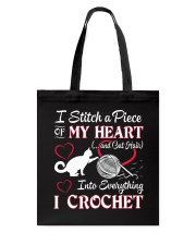 I LOVE CROCHET AND CAT FUNNY CROCHET Tote Bag thumbnail