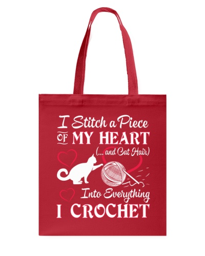 I LOVE CROCHET AND CAT FUNNY CROCHET