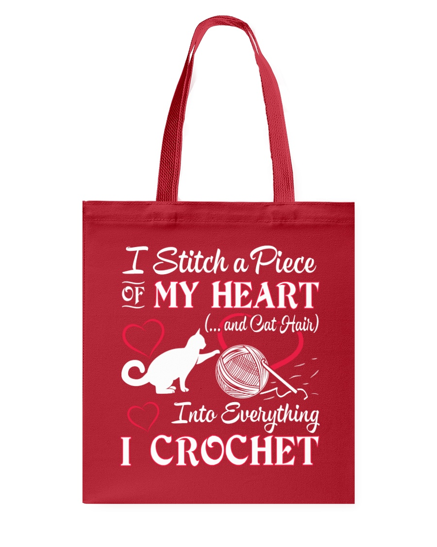 I LOVE CROCHET AND CAT FUNNY CROCHET Tote Bag