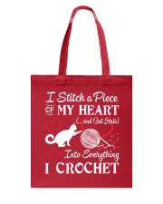 I LOVE CROCHET AND CAT FUNNY CROCHET Tote Bag front