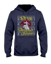 SEXY PERSONAL TRAINER UGLY CHRISTMAS SWEATER Hooded Sweatshirt thumbnail
