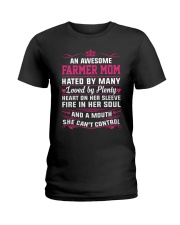 AWESOME FARMER MOM Ladies T-Shirt front
