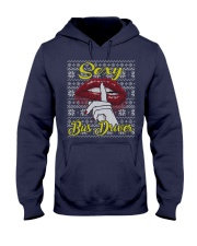 SEXY BUS DRIVER UGLY CHRISTMAS SWEATER Hooded Sweatshirt thumbnail