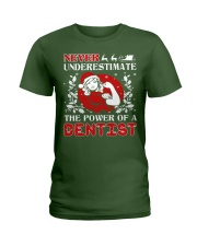 DENTIST UGLY CHRISTMAS SWEATER DENTIST XMAS GIFT Ladies T-Shirt thumbnail