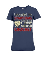 I Googled My Symptoms Crochet Funny Crochet Premium Fit Ladies Tee thumbnail