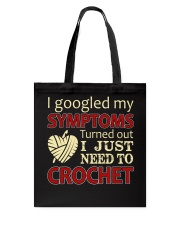 I Googled My Symptoms Crochet Funny Crochet Tote Bag thumbnail
