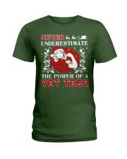 VET TECH UGLY CHRISTMAS SWEATER VET TECH XMAS GIFT Ladies T-Shirt thumbnail