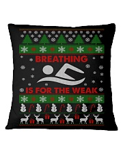 SWIMMING UGLY CHRISTMAS SWEATER SWIMMER XMAS GIFT Square Pillowcase thumbnail