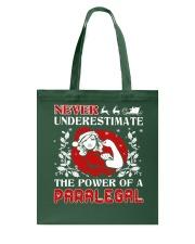 PARALEGAL UGLY CHRISTMAS SWEATER PARALEGAL XMAS  Tote Bag thumbnail