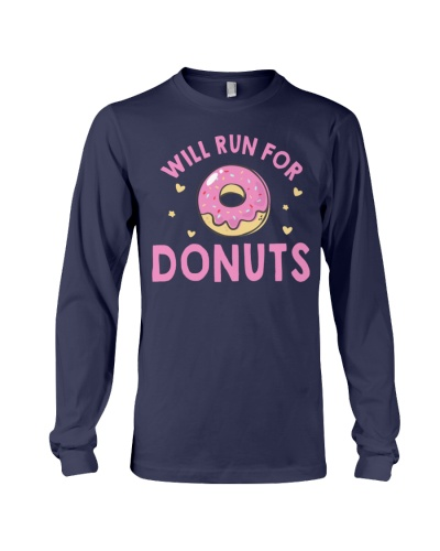 RUN FOR DONUTS FUNNY DONUTS