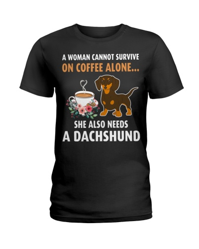 Coffee Lovers Gift Dachshund Dog Flower Funny