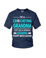 CROCHETING GRANDMA IS MUCH COOLER Youth T-Shirt thumbnail