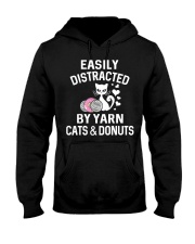 EASILY DISTRACTED BY YARN CATS AND DONUTS Hooded Sweatshirt thumbnail