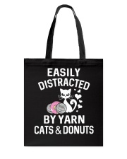 EASILY DISTRACTED BY YARN CATS AND DONUTS Tote Bag thumbnail