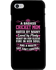 CRICKET MOM HATED BY MANY LOVED BY PLENTY Phone Case thumbnail