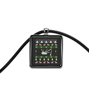 BAGPIPE UGLY CHRISTMAS SWEATER Cord Rectangle Necklace thumbnail