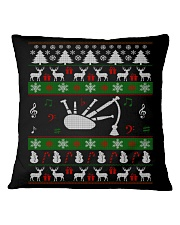 BAGPIPE UGLY CHRISTMAS SWEATER Square Pillowcase thumbnail