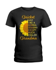 GRANDMOTHER GIFT COOL CRICKET GRANDMA Ladies T-Shirt front