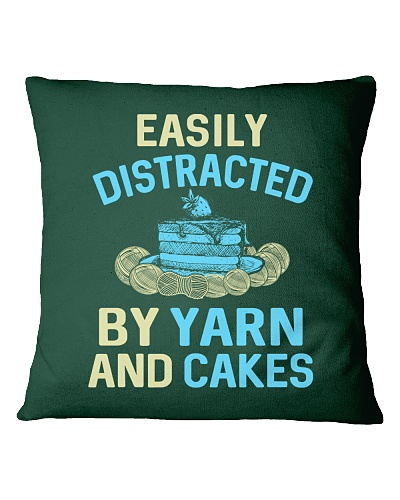 EASILY DISTRACTED BY YARN AND CAKES