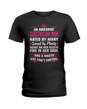 AWESOME ELECTRICIAN MOM Ladies T-Shirt front