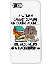 BOOK LOVERS GIFT CUTE DACHSHUND DOG FLOWER FUNNY Phone Case thumbnail