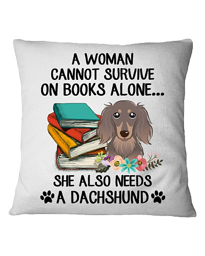 BOOK LOVERS GIFT CUTE DACHSHUND DOG FLOWER FUNNY