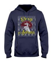 SEXY ACTRESS UGLY CHRISTMAS SWEATER Hooded Sweatshirt thumbnail