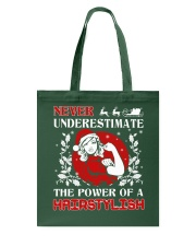 HAIRSTYLISH UGLY CHRISTMAS SWEATER HAIRSTYLIST  Tote Bag tile