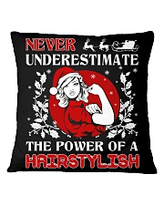 HAIRSTYLISH UGLY CHRISTMAS SWEATER HAIRSTYLIST  Square Pillowcase tile