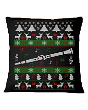 CLARINET UGLY CHRISTMAS SWEATER NEW Square Pillowcase thumbnail