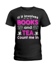 I LOVE BOOKS AND TEA FUNNY Ladies T-Shirt front