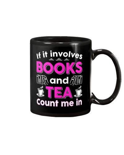 I LOVE BOOKS AND TEA FUNNY