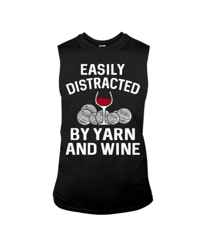 EASILY DISTRACTED BY YARN AND WINE