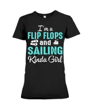 FLIP FLOPS AND SAILING KINDA GIRL Premium Fit Ladies Tee thumbnail