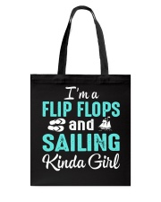 FLIP FLOPS AND SAILING KINDA GIRL Tote Bag thumbnail