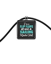 FLIP FLOPS AND SAILING KINDA GIRL Cord Rectangle Necklace thumbnail