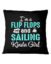 FLIP FLOPS AND SAILING KINDA GIRL Square Pillowcase thumbnail