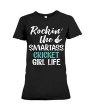 ROCKING THE SMARTASS CRICKET GIRL LIFE Premium Fit Ladies Tee thumbnail
