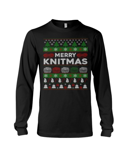 KNITTING UGLY CHRISTMAS SWEATER MERRY KNITMAS GIFT