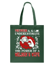 Welder's Wife UGLY CHRISTMAS SWEATER Tote Bag thumbnail