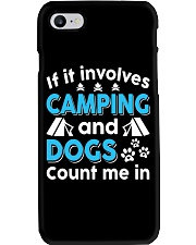 I LOVE CAMPING AND DOGS Phone Case thumbnail