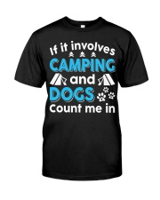 I LOVE CAMPING AND DOGS Premium Fit Mens Tee thumbnail