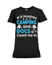 I LOVE CAMPING AND DOGS Premium Fit Ladies Tee thumbnail
