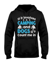 I LOVE CAMPING AND DOGS Hooded Sweatshirt thumbnail